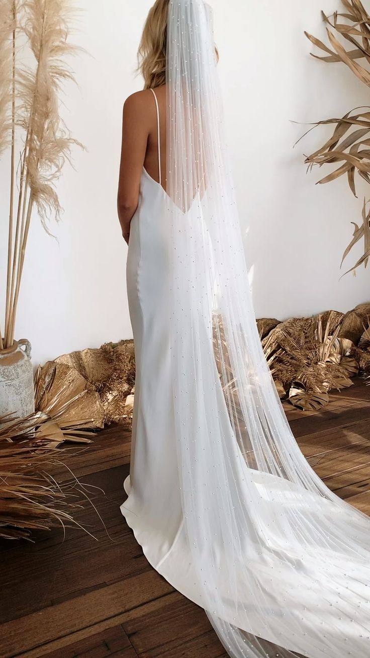 Romantic Dreamy Show Stopping Make Your Movie Moment In One Of Our Exquisite Veils F Wedding Dresses Simple Winter Wonderland Wedding Dress Wedding Dresses [ 1308 x 736 Pixel ]