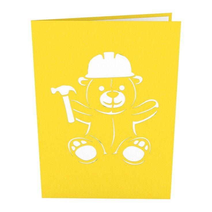 Construction Bear pop up card