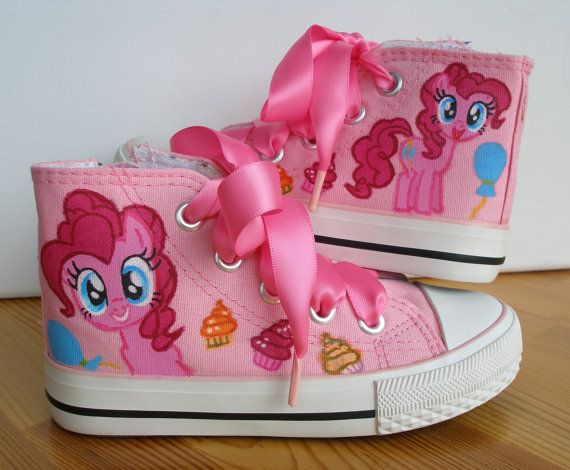 Hand painted Children My Little Pony shoes, Pinkie Pie Any size, color, character and design