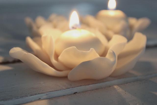DIY cold porcelain tea light holder
