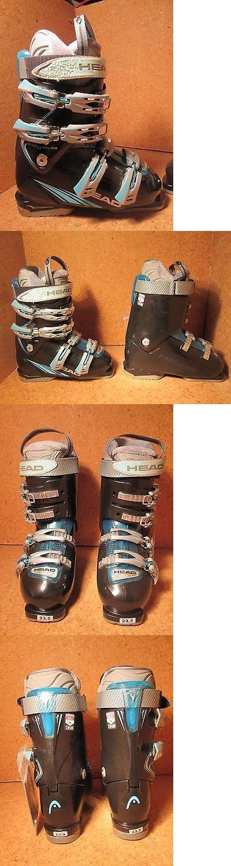 Women 21241: Head Edge +8 Black Trs Aqua Womens Snow Ski Boots Mondo 23.5 New 6.5 Womens -> BUY IT NOW ONLY: $74.95 on eBay!