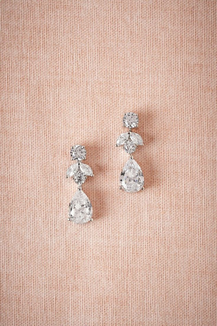 Crystal Drop Earrings  Nice To Wear With A White Shirt