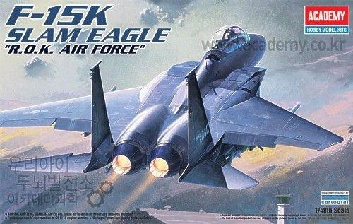 McDonnell Douglas F-15K Slam Eagle, South Korea Air Force. Academy, 1/48, injection, No.12213. Price: 28,79 GBP.