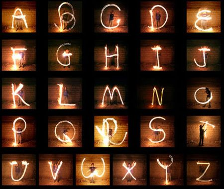 SO COOL! this website has many different creative ways to make the alphabet!
