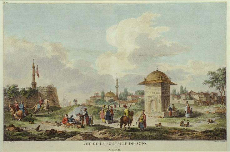 Jean Baptist Hilaire (1753-1822)-Άποψη κρήνης στη Χίο