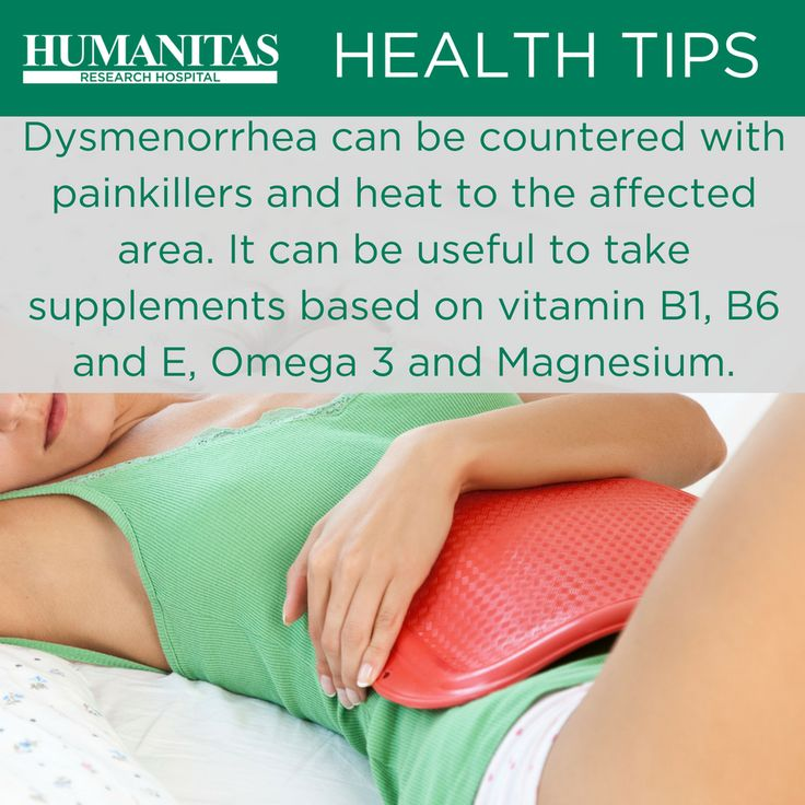 Dysmenorrhea (Menstrual cramps) is a condition in which the menstruation is associated with pain in the abdomen.