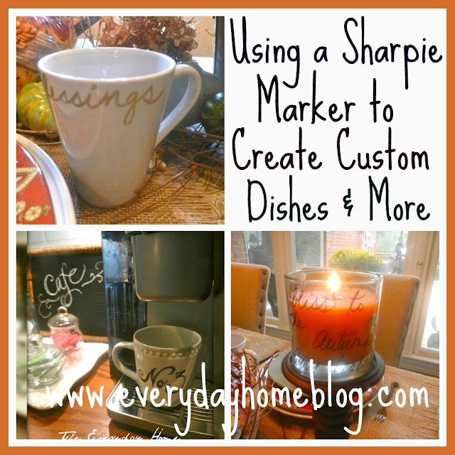 Using a sharpie marker to create custom dishes and more! by The Everyday Home