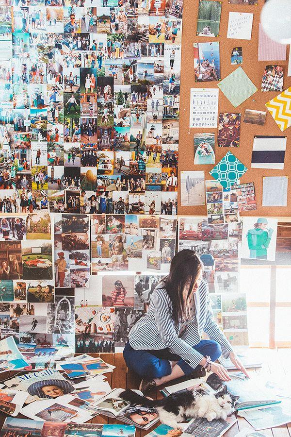 Photo wall | theglitterguide.com.