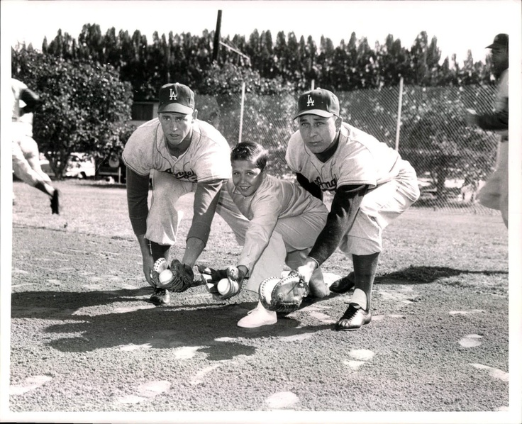 "Los Angeles Dodgers first basemen Frank Howard and Gil Hodges share repetitions with young prospect Gil Hodges Junior at the Dodgers spring training camp in 1960. Measures 8"" x 10"". ""Vero Beach, Fla - Mar 4 1960 Frank Howard, Gil Hodges Jr. & Gil Hodges"" handwritten on reverse. Sporting News: Hubby'S Fav, 60S Pictures, Frank Howard, Gil Hodge, Los Angeles Dodgers, Los Angels, Dem Bum, Angels Dodgers, Baseball Players"