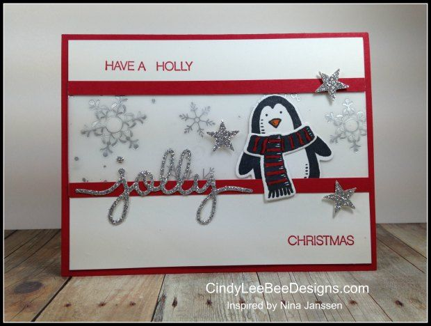 SU Snow Place wSnow Friends Red Vellum -  Christmas, winter - Snow Place & Holly Jolly Greetings stamp sets, Christmas Greetings Thinlits, Snow Friends Framelits by Cindy Brumbaugh