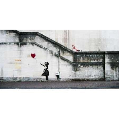 Posterazzi South Bank London-graffiti attributed to Banksy Canvas Art - Anonymous (24 x 48)