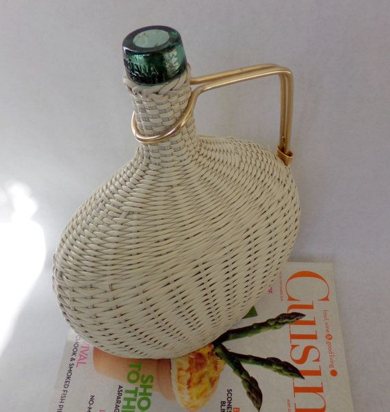 J. Albinana retro bottle covered with woven scoubidou vinyl