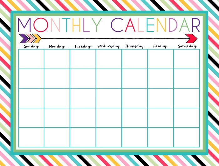 free printable daily  weekly  and monthly calendars