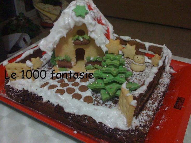 Delizia al cioccolato addobata per Natale di Fantasie nella cucina di Annaly