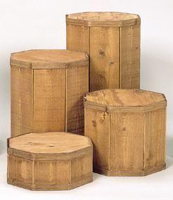 Round Wood Pedestal Set for craft fair displays