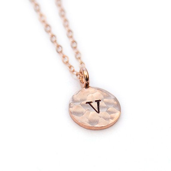 Rose Gold Initial Necklace, Rose Gold Necklace, Initial Rose Gold Necklace, Rose Gold Necklace Initial, Initial Necklace Rose Gold