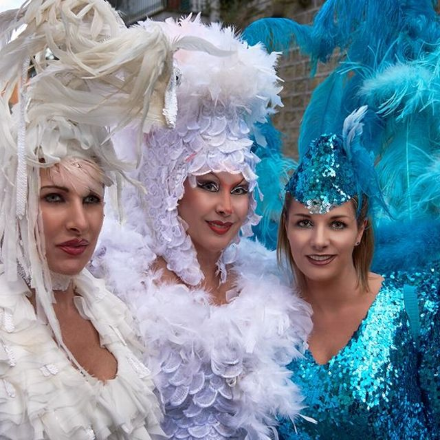 Tre bellissime maschere al carnevale di #Ronciglione
