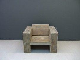 NIEUW Lounge stoel steigerhout (5420131952)
