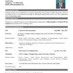Best Resume Format For Freshers Pdf