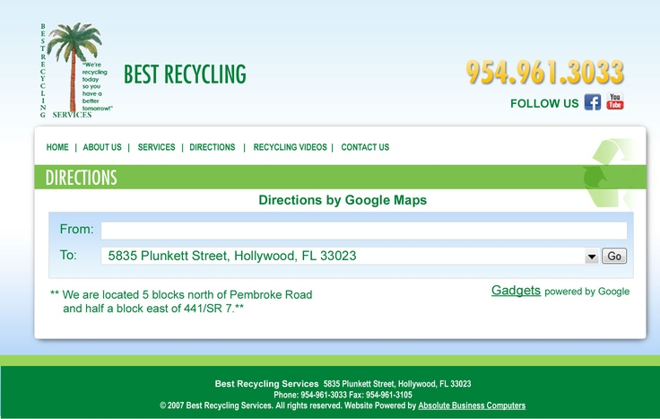 Best Recycling Direction Page