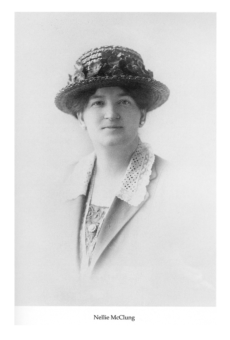 Nellie Mcclung Feminist, Writer And Politician Nellie Mcclung, Along With  Emily Murphy, Irene