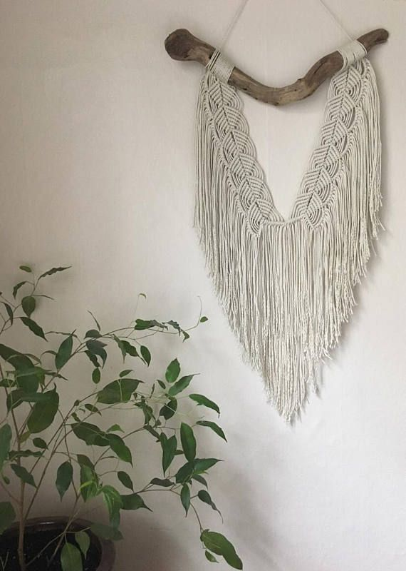 Macrame And Driftwood Wall Hanging