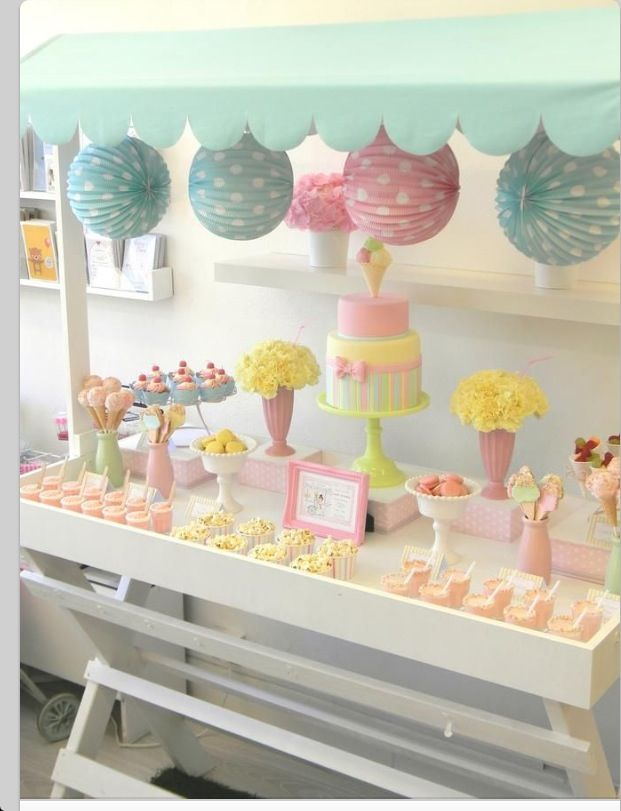 So cute for an ice cream social!
