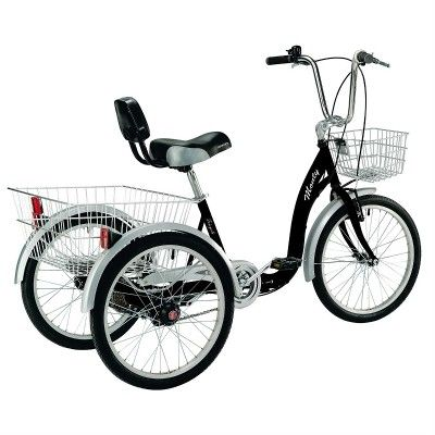 My dream bike!. Back support, three wheels, and huge baskets!.