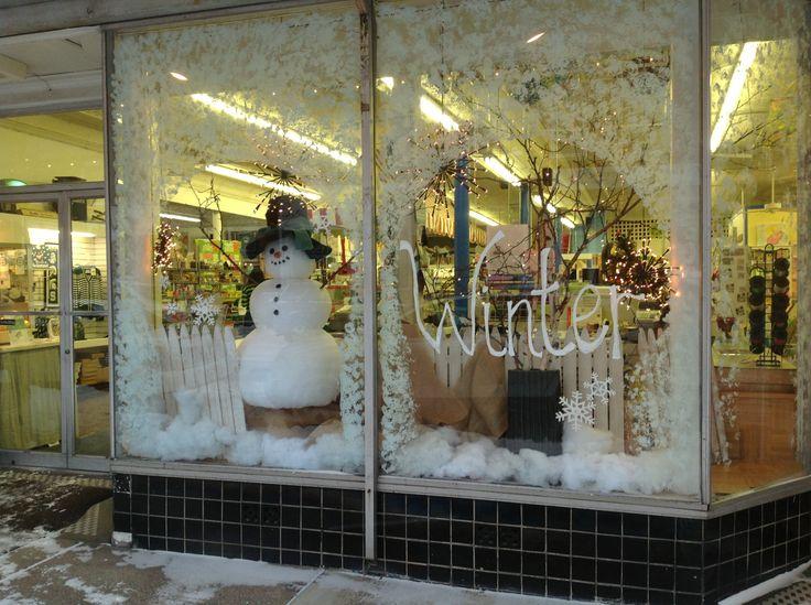 Winter window at Kean's Store in Mason, Michigan.