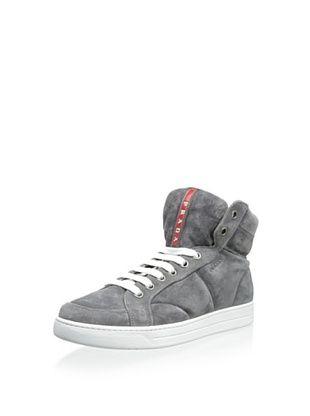 30% OFF Prada Men's High-Top Sneaker (Light Grey)