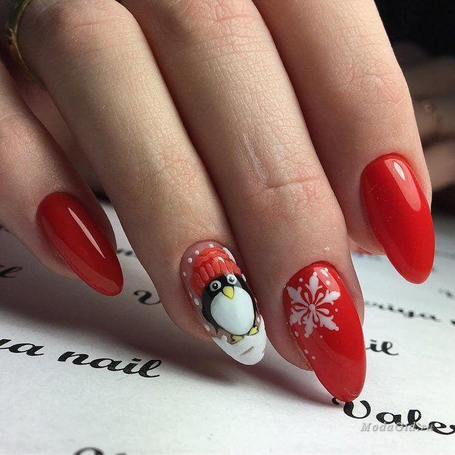 Маникюр: 25 зимних рисунков на ногтях