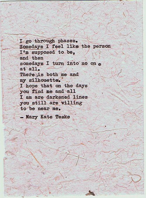 Typewriter poem #6   Mary Kate Teske