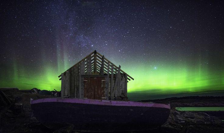Nordlys fra Blimsanden på Vigra. FOTO: GEIR BJØRNDAL SRISOI