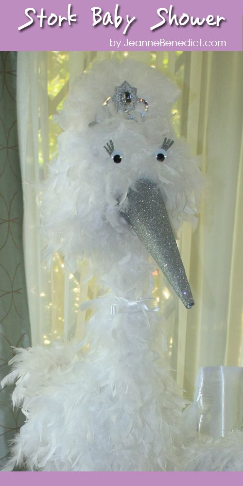 DIY 5-Foot Boa Stork Tutorial -- for a Baby Shower