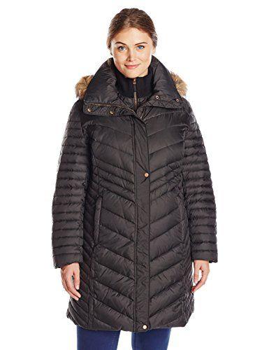 Fashion Womens Plus Size Karla Down Coat www.fashionbug.us #plussize 1X 2X 3X 4X 5X 6X