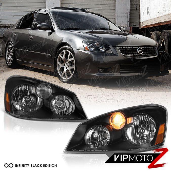 For 2005 2006 Nissan Altima Base S SE SL Sedan Black Front Headlights Headlamps #VIPMOTOZ