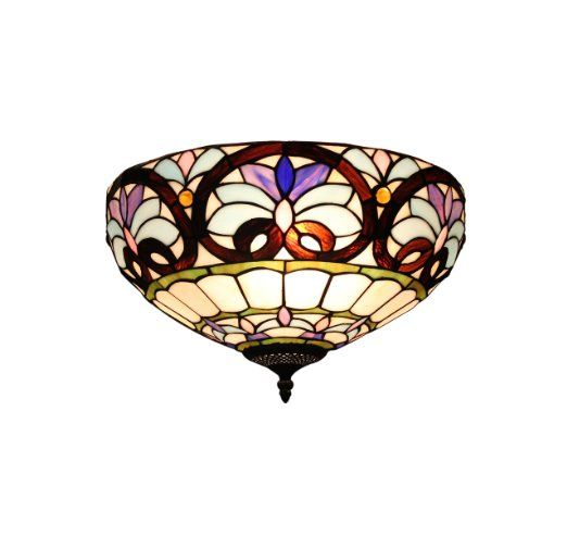 Gweat Retro 16 Inch Tiffany Europäische Art Buntglas Lost In Lila Series  Erröten Einfassung