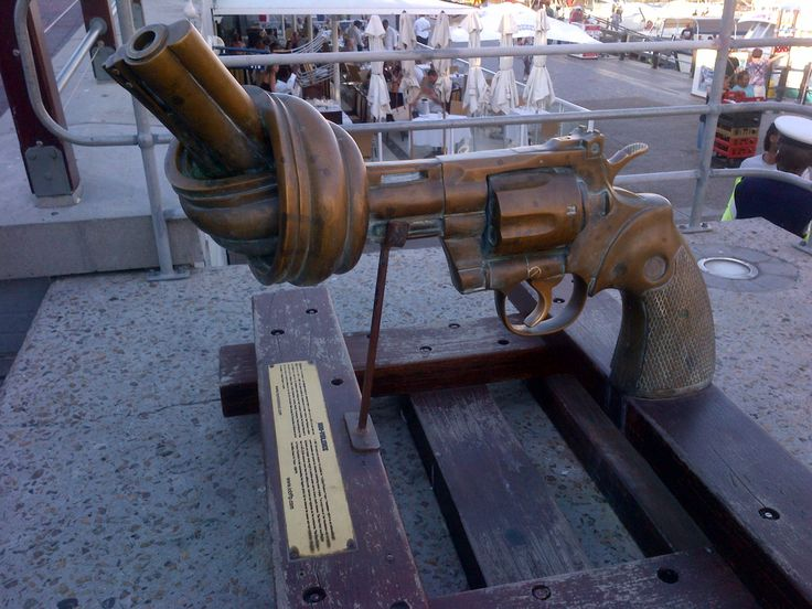 twisted gun at the v&a waterfront