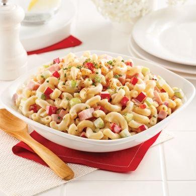 Salade de macaronis et jambon - Recettes - Cuisine et nutrition - Pratico Pratique
