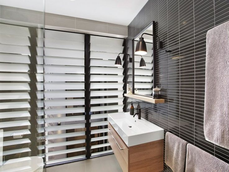 Beautiful The Use Of Frosted Louvre Windows In The Bathroom Is Very Appealing And  Gives The Perfect Privacy Screen Keeping The Natural Light Flowing Into The  Bathroom