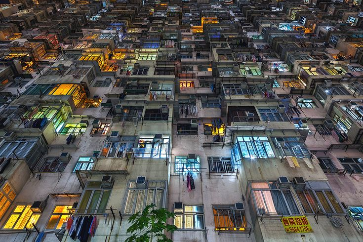 the stacked urban architecture of hong kong // 'the grid' yick cheong buildings in quarry bay // by peter stewart