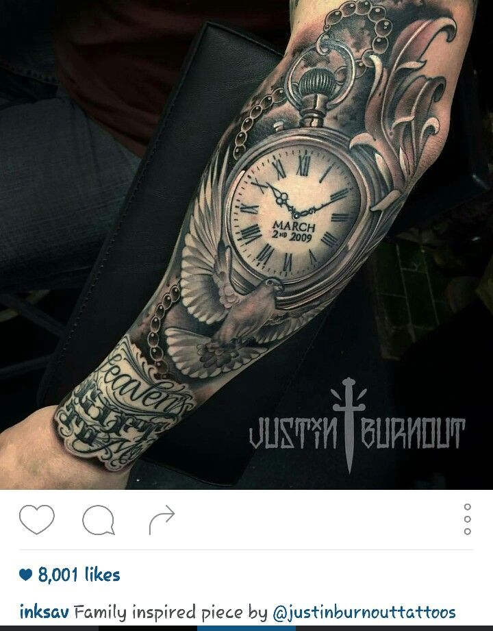 Clock bird sleeve