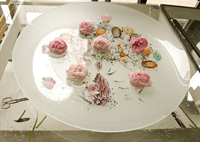Emaille painting + Flowers