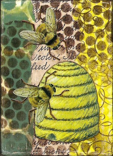Bee Hive - lovely illustration.