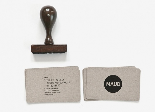 stamped biz card