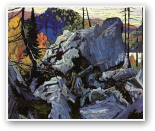Autumn Batchawana Lake by Lawren Harris (Group of Seven) via groupofsevenart.com