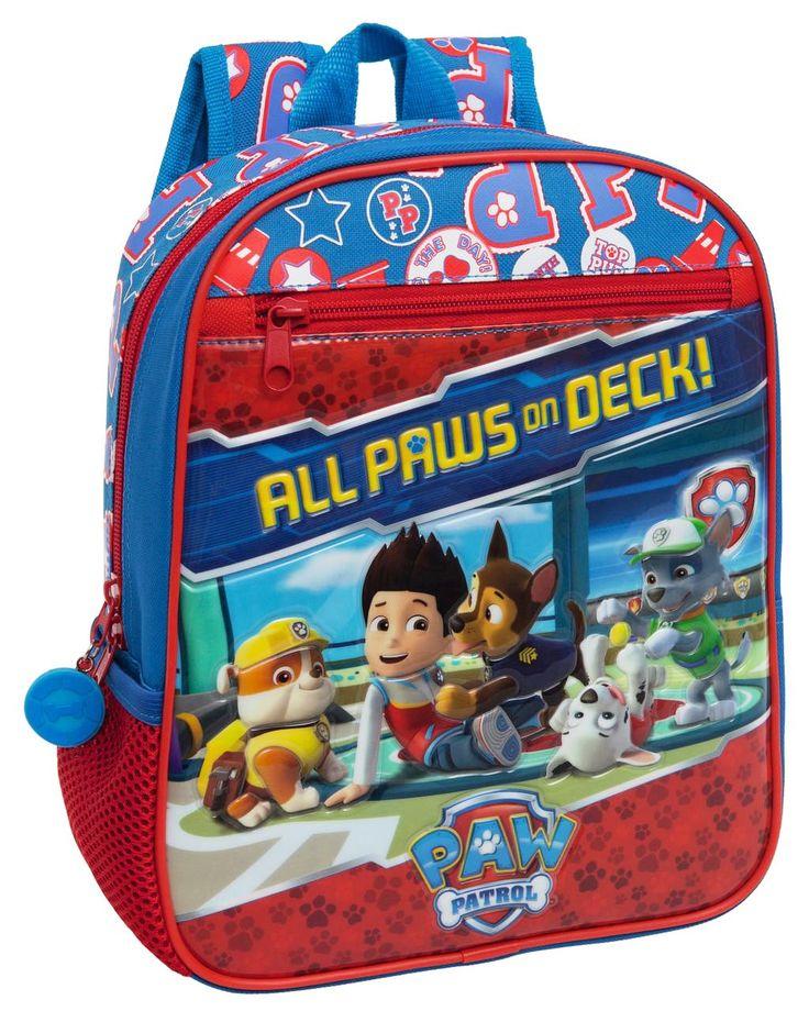 Neem al je speelgoed, schoolboeken en sportartikelen mee in deze nieuwe rugzak van Paw Patrol. De rugzak beschikt over een groot vak, een handvat, een rits aan de voorkant en verstelbare schouderbladen. Op de tas zijn de viervoetige vrienden uit de TV serie Paw Patrol te zien.. De tas heeft de volgende afmetingen 23x28x10 cm. en is geschikt voor jongens en meisjes vanaf 4 jaar.  Afmeting: 10x23x28 mm - Rugzak Paw Patrol: 23x28x10 cm