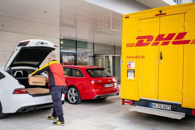 Audi stays one step ahead in order to make their owners' lives more convenient and enriched. Audi is teaming up with Amazon and German logistics company DHL to run a pilot program to make parcel deliveries to Audi owners' car trunks. The concept behind the program is that if a delivery person tries to leave a package at a person's home, there's a good chance the recipient won't be there and the package will have to go back to the processing facility. This solves the problem.