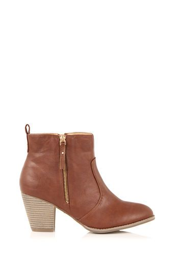 Oasis, ABIGAIL ANKLE BOOT Tan such a cute piece that softens a look