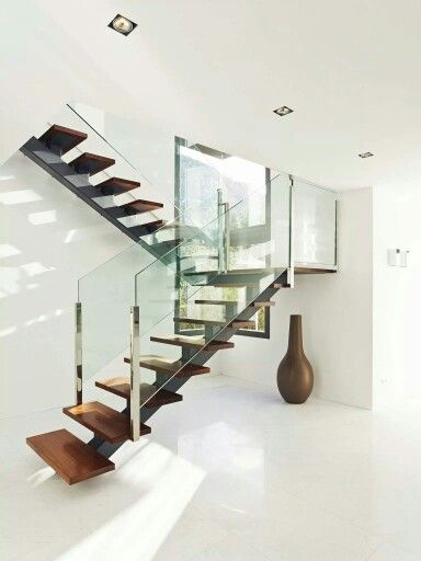 Best Glass And Wood Staircase Con Imágenes Escaleras 640 x 480